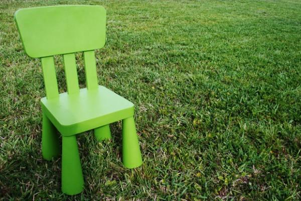 zidle zelena