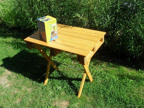 hotový stolek z malé palety